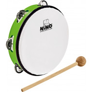 Тамбурин Nino Percussion ABS Tambourine Grass-Green 8""