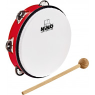 Тамбурин Nino Percussion ABS Tambourine Red 8""