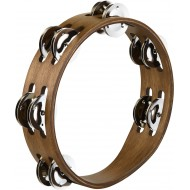 Тамбурин MEINL Compact Wood Tambourine CTA2WB Walnut Brown 8""